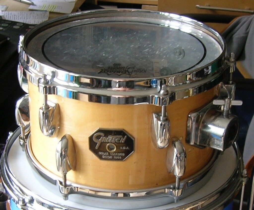 GRETSCH 70s STOP SIGN 10 X 6 CONCERT TOM CONVERSION  NATURAL MAPLE FINISH   | in Fulham, London | Gumtree