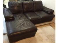 Free Set of Brown Leather Sofa's