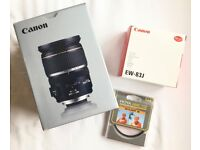 Canon EF-S 17-55MM F/2.8 IS USM LENS + extras