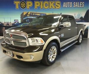 2013 Ram 1500 LONGHORN CREW CAB, SUNROOF, LEATHER, NAVIGATION!