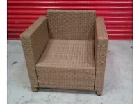 Rattan style garden armchair
