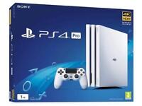 Ps4 pro white nearly new boxed