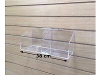 Slatwall Display Acrylic Boxes Accessories Shelf Display Small Unit