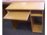 Beech Home Office Computer Desk Sliding Keyboard Shelf Excellent Condition 80cm x 40 x 73cm high