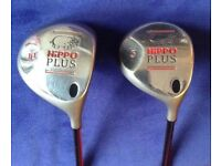 Hippo golf clubs - drivers, no 1 and no 3