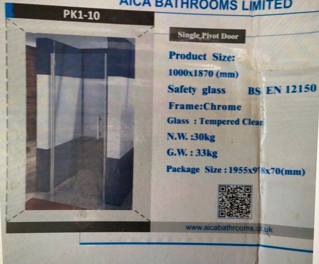 Shower Door Alica 1000 Single Pivot In New Milton Hampshire Gumtree