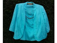 Minuet Two Piece Cami Top & Jacket Size 12