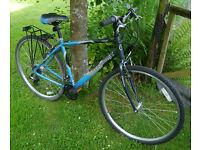 "Crosstrax gent's hybrid bike, 19"" aluminium frame, 21 speed Shimano Altus gears, 700c wheels"