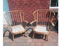 Two Large wooden chair frames for upcyling.
