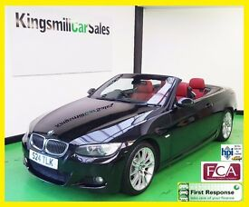 2007 BMW 330d M SPORT * AUTO * CONVERTIBLE * ONLY 118K * LEATHER INTERIOR * AIRCON * HIGH SPEC *