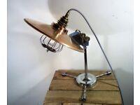 Vintage/Retro Atomic Copper Industrial/Steampunk Adjustable Table/Desk Heat Lamp