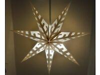 Lamp shade, white star, 100cm
