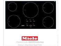 Miele induction hob stainless steel trim km5993