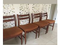 Four retro dining chairs g plan style