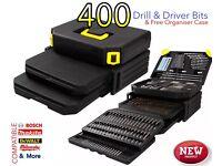 NEW EXTRA LARGE DRILL BIT CASE ORGANISER DEWALT MAKITA BOSCH DRIVER HEX HSS BITS PLUMBING ELECTRICS