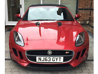 "Jaguar F-Type v6 S, Italian Racing Red, 20"" Black Alloys, Reversing Camera, Black Sports Body Kit"