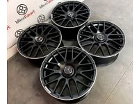 """BRAND NEW MERCEDES 19"""" 20"""" 63AMG STYLE ALLOY WHEELS -AVAILABLE WITH TYRES - 5 X 112 - SATIN BLACK"""