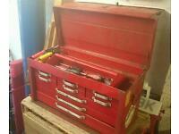 U.S Pro Tools Style Tool Chest Toolbox Mechanics Red