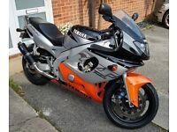 Yamaha yzf600r Thundercat, black/orange, 33k, m.o.t 04/18