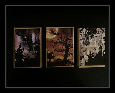THREE SPOOKY HALLOWEEN SCENE GIFT BOXES - Spooky Scene