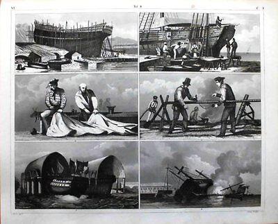 Marine/Schiffe/Seefahrt-/leute/Schiffbau+Restaurierung/Marine-Handwerk/Stahlst.