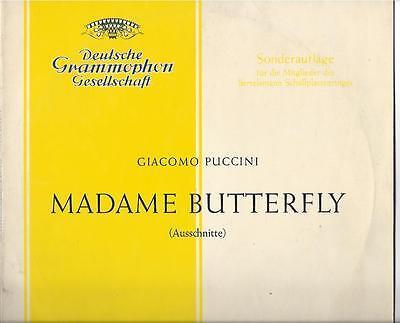 Maria Cebotari Sonderauflage 1960 : Madame Butterfly  25 cm LP