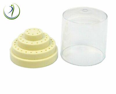 Dental Lab Jewelry Bur Bit Block Station Holder Plastic Lid Holds 48 Hp 332