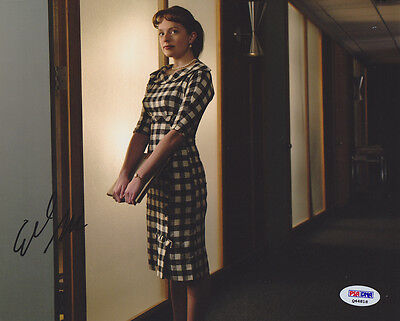 Elisabeth Moss Signed 8X10 Photo Peggy Olson Mad Men Psa Dna Autographed