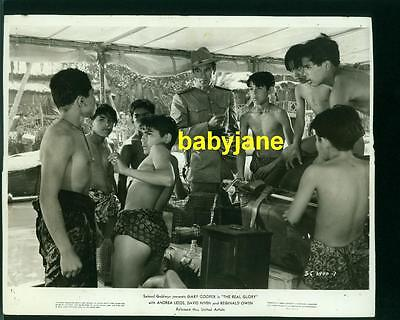 GARY COOPER VINTAGE 8X10 PHOTO 1938 THE REAL GLORY WITH GROUP OF YOUNG BOYS