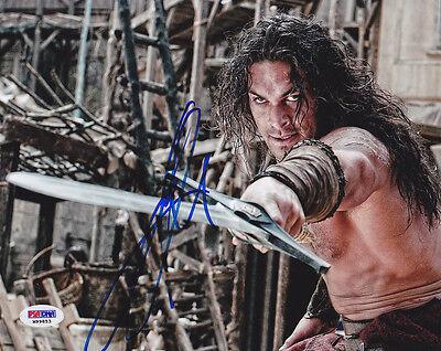 Jason Momoa Signed 8X10 Photo Khal Got Conan The Barbarian Psa Dna Autographed
