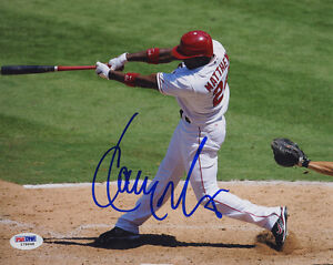 Gary-Matthews-Jr-SIGNED-8x10-Photo-Los-Angeles-Angels-PSA-DNA-AUTOGRAPHED