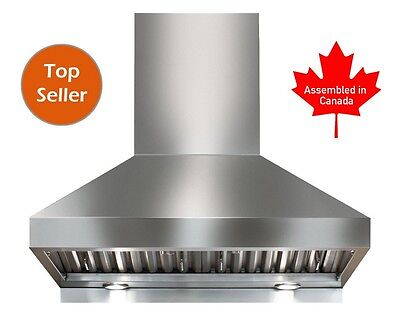 "PROFESSIONAL RANGE HOOD 30"" WITH MECHANICAL  SWITCHES. 5 YEARS WARRANTY"