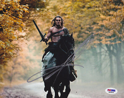 Jason Momoa Signed 8X10 Photo Khal Got Conan The Barbarian Psa Dna Autographed