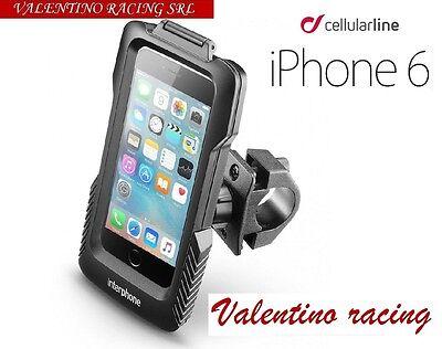 CUSTODIA CELLULAR LINE SMIPHONE6 SUPPORTO MANUBRIO TUBOLARE DA MOTO PER IPHONE 6