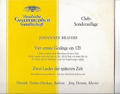 Fischer-Dieskau mit Jörg Demus am Klavier 1964 Sonderauflage DGG 25 cm LP