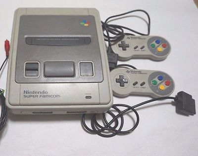 Nintendo Super Famicom Console System W/adapter for 100-240V K1