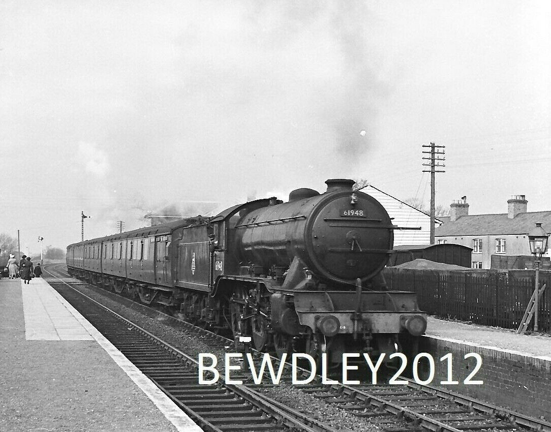 CUT DOWN NEGATIVE LNER K3 61948 AT LANGRICK BOSTON 14/3/1953 +COPYRIGHT