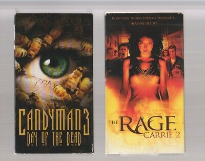 BOTH CANDYMAN III 3 DAY OF THE DEAD & CARRIE 2 THE RAGE Horror VHS video Movie - Three Days Of Halloween