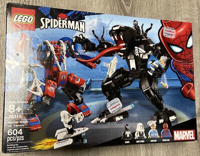 NEW!!!LEGO Marvel 76115 Spider Mech Vs. Venom Set 604 pcs.