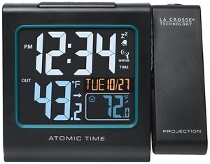 La Crosse Technology 616-146 Atomic Color Projection Alarm clock, New
