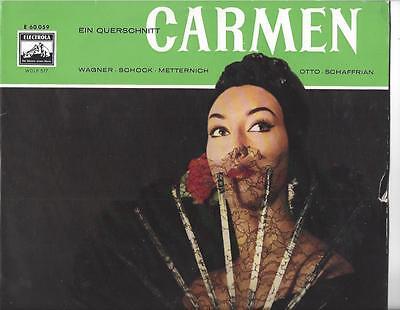 Rudolf Schock -  Sieglinde Wagner - Lisa Otto - Rosl Schaffr  : Carmen  25 cm LP