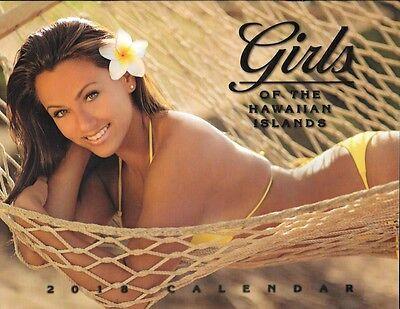 2018 Hawaiian Calendar   Girls Of The Hawaiian Islands  12 Month Hawaii Calendar