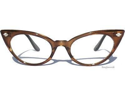 Retro Vintage Style Cat Eye Frame Clear Lens Eyeglasses Glasses Eyewear Women's
