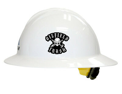 Oilfield Trash Hard Hat Decal Helmet Sticker Label Pipe Liner