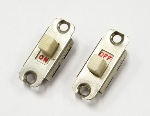 Lot of 2 Vintage Carling SPST ON-OFF Slide Switches  4A @ 125V AC UL