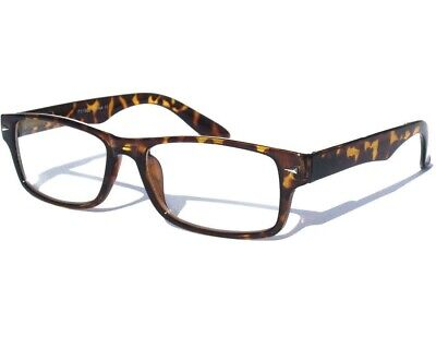 Tortoise Shell Design CLEAR LENS GLASSES Polite Hipster Nerd Classic (Tortoise Shell Mens Glasses)
