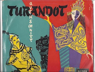 Renata Tebaldi - Inge Borkh - Mario del Monaco  : Turandot  25 cm LP 50er Jahre