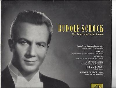 Rudolf Schock -  Der Tenor und seine Lieder Electrola 25 cm LP