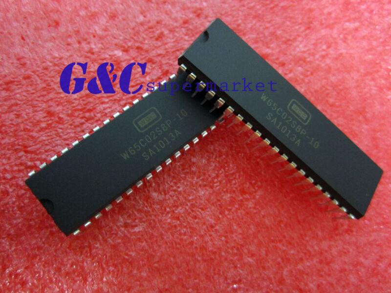 5PCS W65C02S8P-10 65C02 6502 8-Bit 10MHz MPU DIP40 NEW D18