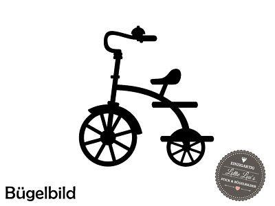 Bügelbild Fahrrad Bicycle Dreirad XXL Wunschfarbe Flex Glitzer Flock (Craft Flex Bike)
